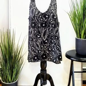 NORDSTROM Black and White Floral Top